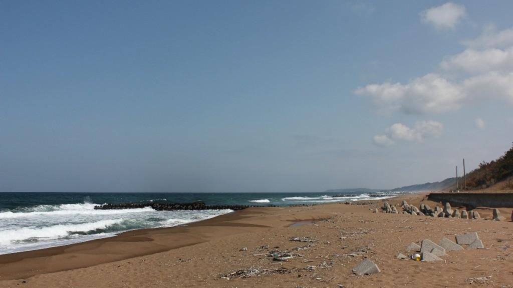 加賀まで見える海岸