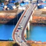 ここはどこの橋? – 日野川の風景